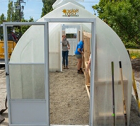 A new greenhouse in UW Tacoma's Giving Garden